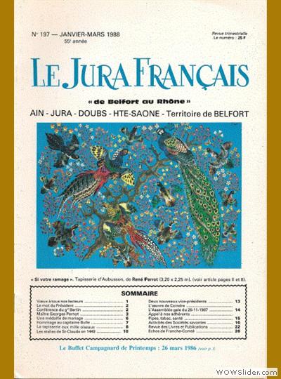 Le Jura Français N° 197 1988
