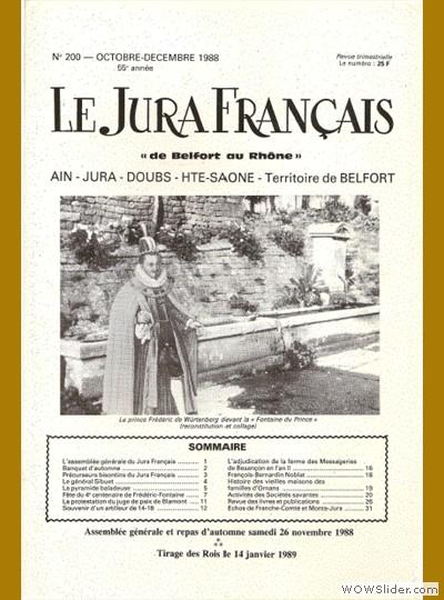 Le Jura Français N° 200 1988