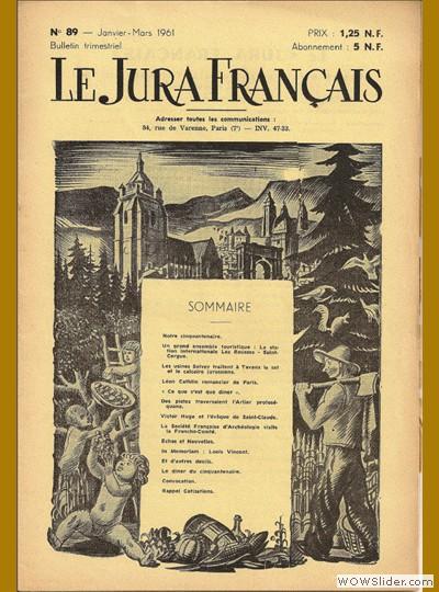 Le Jura Français N° 89 1961
