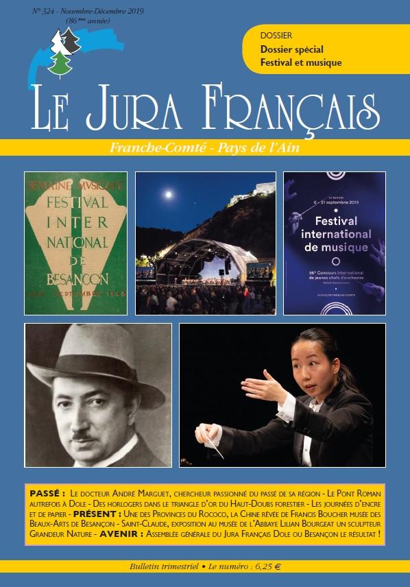 Couverture du Jura Francais N 324 Novembre - Decembre 2019